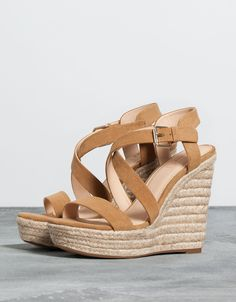 jute wedges. Discover this and many more items in Bershka with new products every week
