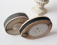 Two Vintage Rolls of Milliner's Ribbon by ZinniaCottage