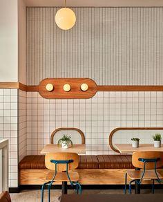 modern restaurant Inside HipCityVeg: A Dreamy Modern Diner Design Café, Cafe Design, Design Trends, Concept Restaurant, Retro Diner, Restaurant Interior Design, Store Interior Design, Brewery Interior, Decor Inspiration