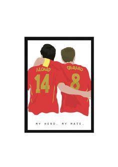 Xabi Alonso and Steven Gerrard A3 Poster: 297mmx420mm Liverpool, LFC, Torres, Spain, England, YNWA, Anfield, Kop, Carragher, Benitez, Friend