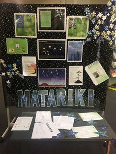 "Matariki is the Māori name for the star cluster known as Pleiades. The full name is ""Ngā mata a te Ariki Tawhirimātea – the eyes of the God… Preschool Lessons, Lessons For Kids, Preschool Ideas, Zany Zoo, Happy Birthday America, City Library, Maori Art, Star Cluster, Libraries"