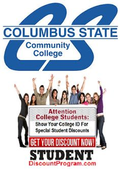 We just added some great merchants offering student discounts to the students at Columbus State Community College.  Check it out!  Terry Programming Websites, College Student Discounts, Columbus State, College Campus, Community College, Colleges, College Students, University, School