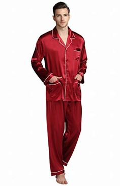Tony /& Candice Mens Satin Pajama Pants Long PJ Bottoms
