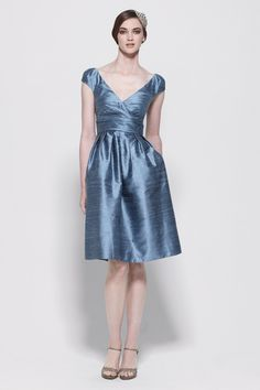 Image from http://www.capturebrides.com/Images/Watters-Bridesmaids-Collections-Slate-blue-dupioni-silk-v-neck-dress.jpg.