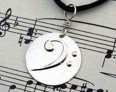 Bass Clef Pendant Necklace - Silver Music Jewelry- Keepsake for Musicians- unisex, men, Father& Day Gift, Dad charm Men Necklace, Silver Pendant Necklace, Sterling Silver Pendants, Silver Earrings, Music Jewelry, Geek Jewelry, Musician Gifts, Fantasy Jewelry, Gothic Jewelry
