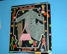 MADDIE-MOD-BARBIE-SIZE-OUTFIT-CHECKERED-SKIRT-SET-with-NYLONS-NEW-NRFB