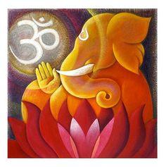 Lord Ganesh-painting on a wrapped canvas-customize Canvas Prints Lord Ganesha Paintings, Ganesha Art, Om Ganesh, Ganesh Lord, Indian Arts And Crafts, Art Painting Gallery, Custom Canvas Prints, Indian Folk Art, Hindu Art