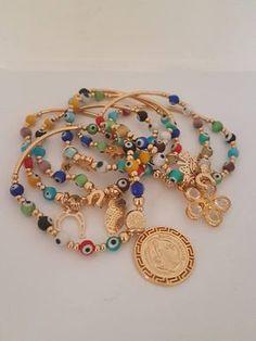Bunch Evil Eyes Bracelets, Turkish Bracelets #takkaibykarina #handmadejewelry #evileyes #braceletsjewelry #bracelets #turkishbraceles #mexicanjewelry #etsyshop #mothersdaygift #sanbenito #catholic #etsyshop
