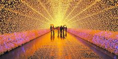 Scene from Nabana no Sato, Kuwana City, Mie Prefecture, Japan (© Hiroaki Kaneko via Google+) Winter Lights Festival