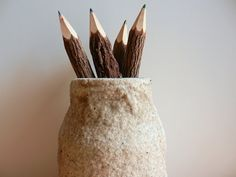 pencil holder made from beach sand / made to by CarriageOakCottage, $16.00