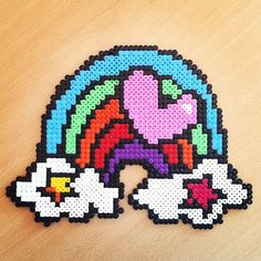 Rainbow love hama perler by hamaniacs