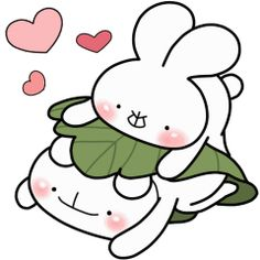 LINE Official Stickers - every day love UsakKuma 10 Example with GIF Animation Today Meme, Cute Couple Cartoon, Cute Love Stories, Cute Love Gif, Dibujos Cute, Line Friends, Little Twin Stars, Line Sticker, Sweet Couple
