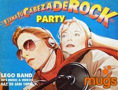 Llena tu Cabeza de Rock Party #sondeaquipr #llenatucabezaderock #mugs #hatillo