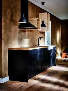 Modern Kitchen Design, Interior Design Kitchen, Kitchen Decor, Graphic Designer Desk, Home Decor Furniture, Diy Home Decor, Ikea Kitchen Cabinets, Interior Architecture, House Design