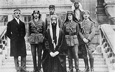TE Lawrence with Emir Feisal and the Arab Commission to the Peace Conference in Versailles