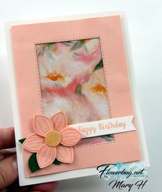 Floral essence window card from Flowerbug