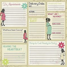 Karen Foster MATERNITY MEMORIES 12x12 Scrapbooking Paper 2 FOR 99 CENT SALE!