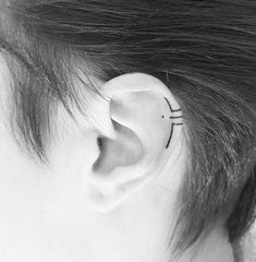 No Piercing Ear Jacket Corset Weaving/fake faux piercing/ear wires wrap/piercing imitation/cartilage earcuff/oreille manchette/conch ohrclip - Custom Jewelry Ideas Tattoos 3d, Mini Tattoos, Body Art Tattoos, Small Tattoos, Cool Tattoos, Tattos, Piercing Tattoo, Hawaiianisches Tattoo, Ear Piercings