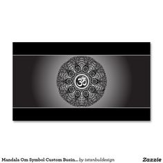 Mandala Om Symbol Custom Business Card