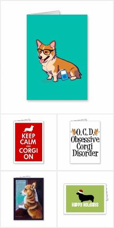 Corgi Greeting Cards: Bookmarked all my favorite welsh corgi cards for upcoming holidays, birthday, and other occasions ranging from simple greeting cards to graduation, wedding, and more. Cute Pembroke Welsh Corgi Christmas cards and cards that are blank on the inside to be customized to your liking. There is even a get well soon doctor corgi card!
