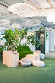 Mint & More Creative has designed the rooftop offices for marketing metrics company, Supermetrics, located in Helsinki, Finland. Office Space Design, Workspace Design, Colored Ceiling, Contemporary Office, Acoustic Panels, Outdoor Furniture Sets, Outdoor Decor, Growing Flowers, Design Agency