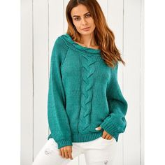 31.46$  Buy now - http://dij9n.justgood.pw/go.php?t=196029402 - Puffed Sleeve Cable Knit Oversized Sweater
