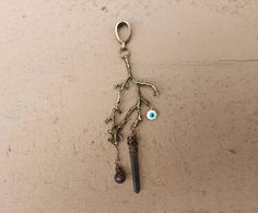 Bronze branch, blood stone and evil eye dreadlock bead/hair jewelry  Etsy.com/shop/SisterSarahsShop