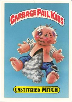 garbage pail kids | Garbage Pail Kids 1st Series Kids Giant Stickers (Base Set) 9-A by ...