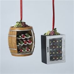 Wine Holder Cabinet Christmas Ornament