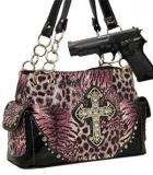 Country Girl Fashions, LLC - Cross Concealed Carry Shoulder Bag w/ Rhinestones Pink, $59.00 (http://www.countrygirlfashionsonline.com/products/cross-concealed-carry-shoulder-bag-w-rhinestones-pink.html)