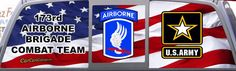 Army 173rd Airborne Brigade Combat Team Window Graphic Mural.