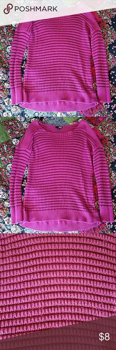 a.n.a textured sweater Textured sweater, Gently used!! Color is a dark pink a.n.a Tops