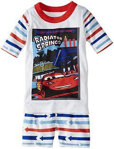 Disney•Pixar Lightning McQueen Short John Pajamas from Hanna Andersson | size 100 (4)