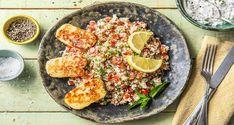 Hier kommt ein kreatives Rezept für Dich: Exotisch gewürzter Halloumi. Schwing den Kochlöffel mit Blumenkohl, frischer Minze und Joghurt!