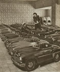 pedal cars - just imagine what these would be worth today!