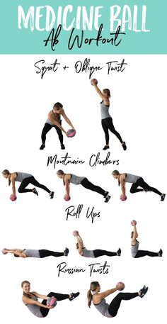 good core exercises This medicine ball ab workout includes some of the BEST core and ab exercises to tone and tighten your midsection and sculpt flat abs. Best Core Workouts, Abs Workout Routines, At Home Workout Plan, Workout Videos, Gym Workouts, At Home Workouts, Extreme Workouts, Training Workouts, Dumbbell Workout
