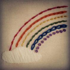 Embroidery #rainbow