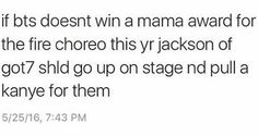 I second this!! #BTS #got7 this is the first time I've actually heard him referred to as jackson of got7 and not jackson