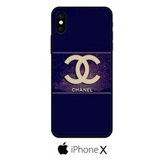 Chanel Bag Blue Gold IPHONE X