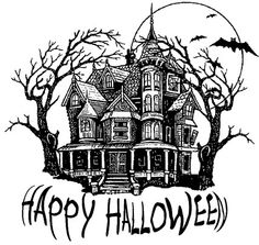 Halloween House Digi File