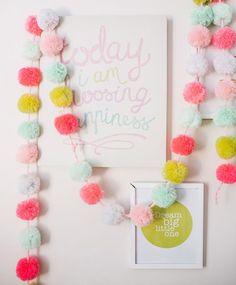 HOME DZINE Craft Ideas   Fun with pom-poms