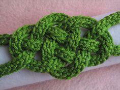 Celtic Knot Bracelet free crochet pattern by Jennifer E. Ryan do this one for Janel!