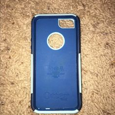 iPhone 5 otterbox blue and teal In fourth pic you see a little scuff. Not noticeable unless physically up close to the case. OtterBox Accessories Phone Cases