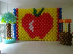 Apple Balloon Wall