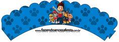 Saia Wrapper para Cupcake Patrulha Canina--- https://fazendoanossafesta.com.br/2015/05/patrulha-canina-kit-festa-infantil.html/