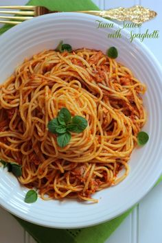 Tuna Sauce with Spaghetti  ~  though I also sauteed diced lge onions n fresh red chillies w a bit of bird eye chillies (paste/blended/pounded) until all lovely & fragrant, and added mushrooms & baby spinach to it. mmm <3