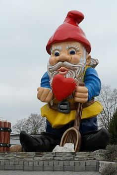 The biggest garden gnome in the world, in Nowa Sól, Poland (5.41 metres (17.7ft) high)