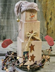 Christmas wooden crafts ideas,Do you like wooden snowman