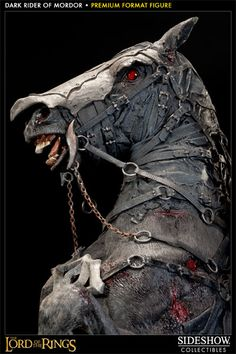 The Lord of the Rings Dark Rider of Mordor Premium Format™ Figure by Sideshow Collectibles Traditional Shark Tattoo, Avatar Movie, Horse Armor, Horse Costumes, Horse Sculpture, Sideshow Collectibles, Horror Art, Creature Design, Lord Of The Rings