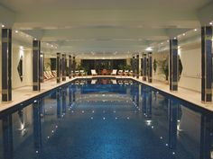 Indoor swimming pool at Bovey Castle